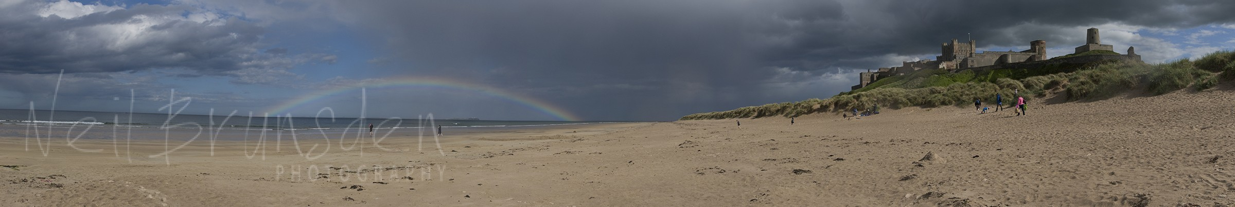 Bamborough Rainbow Panorama
