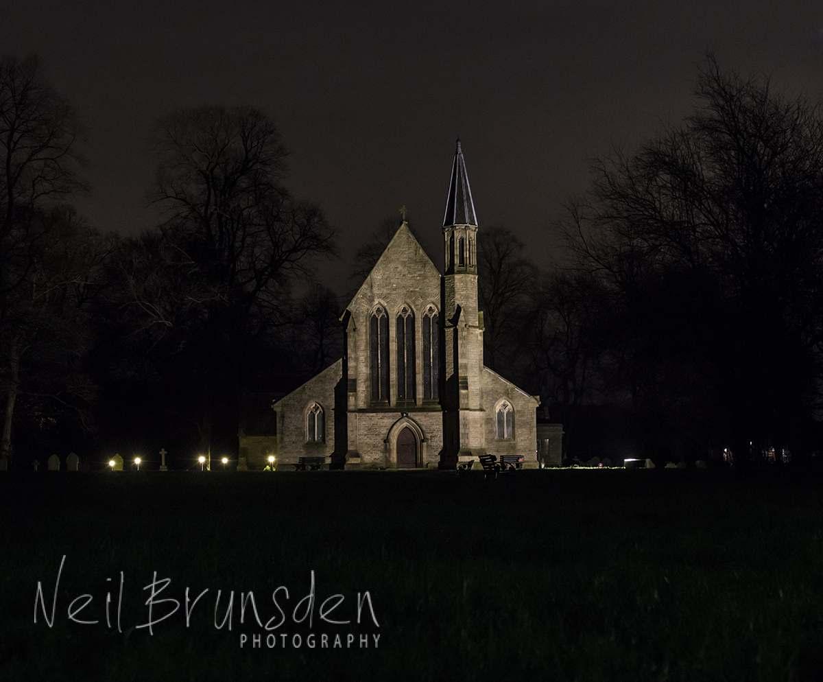 St. Saviour Church, Ringley at Dusk