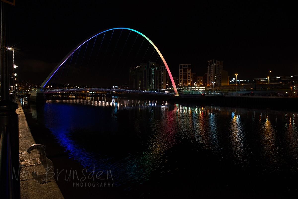Night Time at the Millenium Bridge, Newcastle/Gateshead