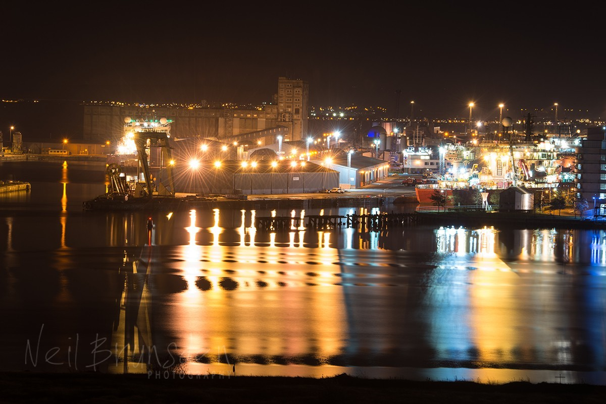 Leith Docks by Night1