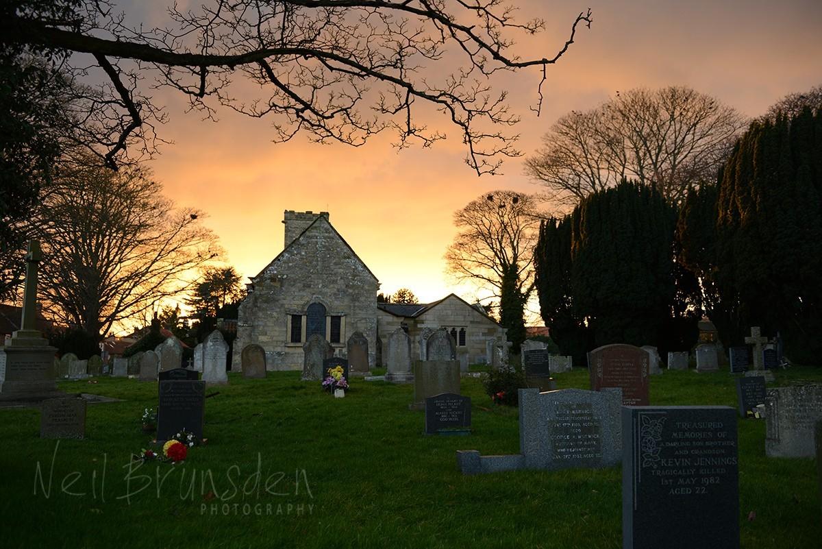 East Ayton Village Church at Sunset